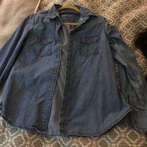 Gap size small denim shirt. Linen/cotton